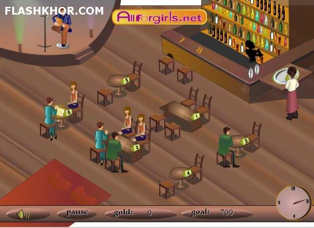 بازی آنلاین رستوران دار جوان - دخترانه رستوران داری فلش