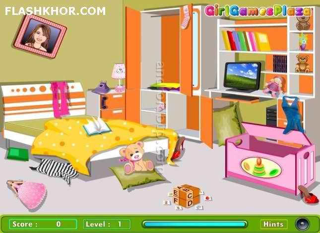 بازی آنلاین مرتب کردن خونه - دخترانه فلش