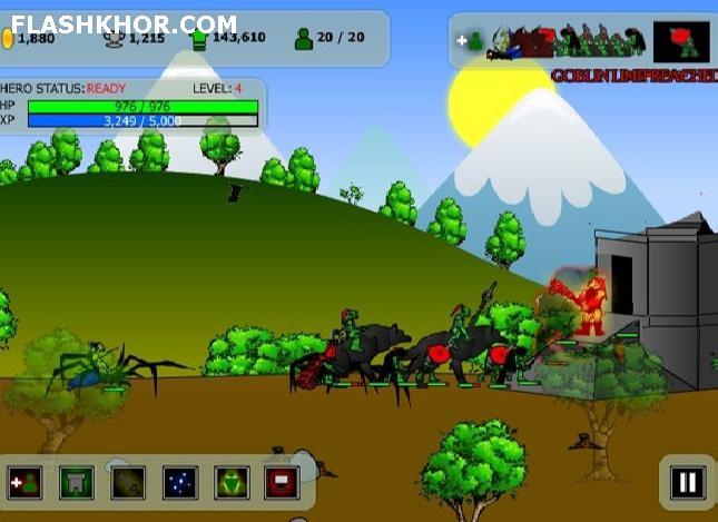 بازی آنلاین جنگ بین قبیله های دیو های جنگل - استراتژیک جنگی فلش