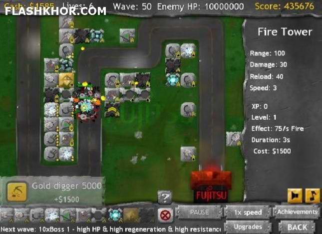 بازی آنلاین مدافع فوجیتسو - استراتزیک جنگی تانک فلش