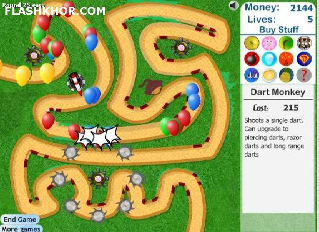 بازی آنلاین دفاع از برج در مقابل بالن ها 3 - استراتژیک فلش