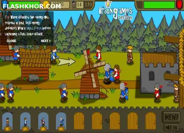 بازی آنلاین شوالیه های قلعه 2 - استراتژیک جنگی فلش