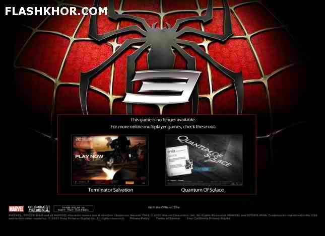 بازی آنلاین مرد عنکبوتی 3 اسپایدرمن فلش