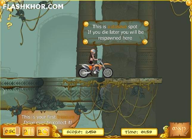 بازی آنلاین موتور سواری در معبد - ورزشی فلش