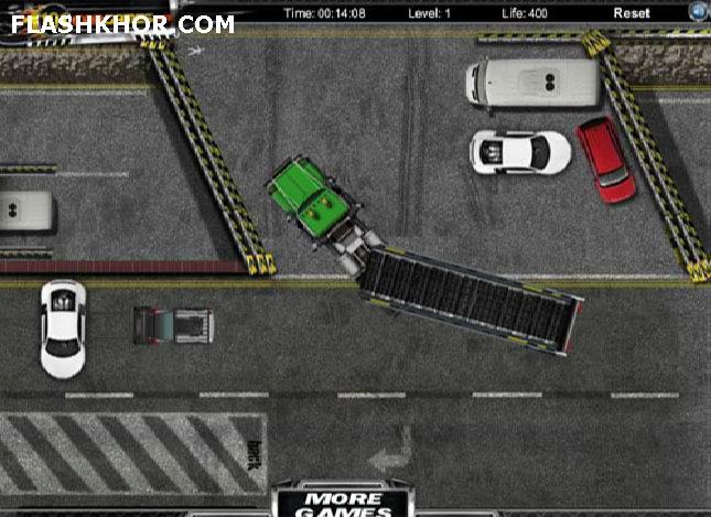بازی آنلاین پارک ماشین : پارک در شهر فلش