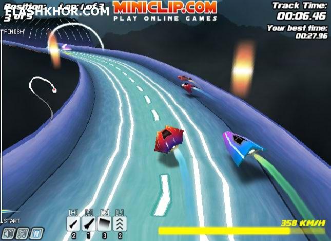 بازی آنلاین مسابقه ماشین های جت 2 - مسابقه ای ماشین سواری فلش