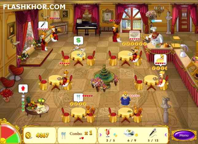 بازی آنلاین رستوان داری : رستوران دار بیلبو - دخترانه فلش