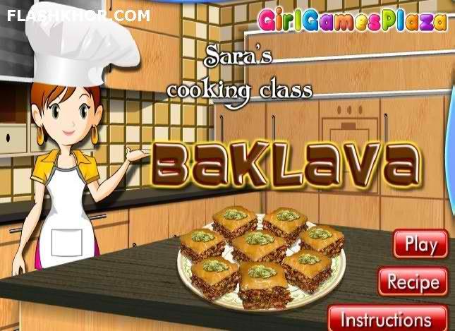 بازی آنلاین آشپزی باقلوا - دخترانه فلش