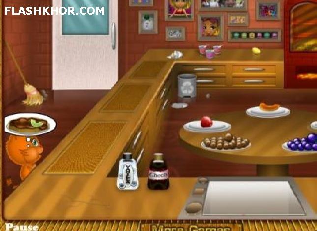 بازی آنلاین رستوران داری : رستوران گربه ها - دخترانه فلش