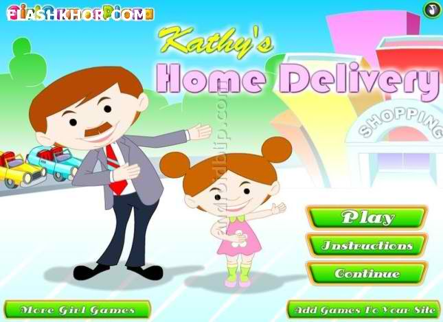 بازی آنلاین کتی فروشگاه دار - دخترانه فلش