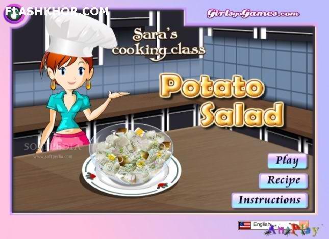 بازی آنلاین آشپزی سالاد سیب زمینی - دخترانه فلش