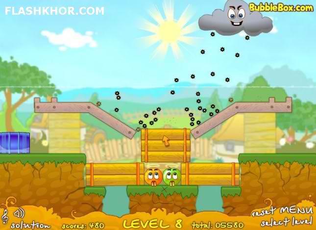 بازی آنلاین حفاظت از پرتقال های 2 - فکری فلش