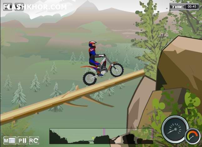 بازی آنلاین موتور سواری چالش موانع 2 - تور کوهستان فلش