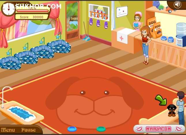 بازی آنلاین هتل داری سگ های خانگی 2 - دخترانه فلش
