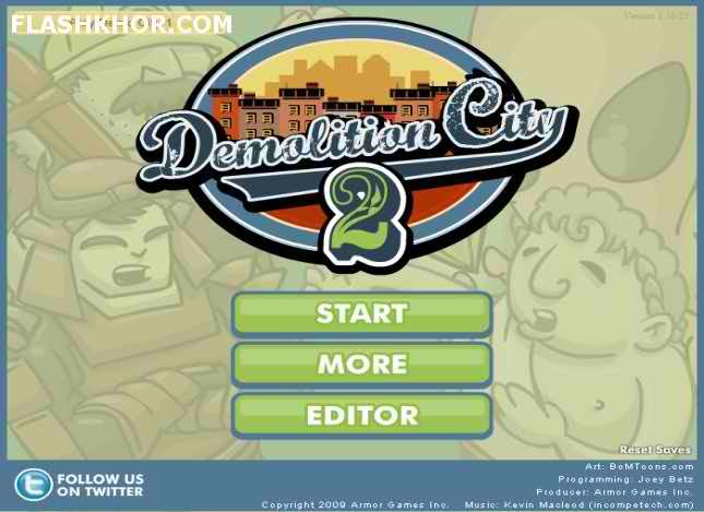 بازی آنلاین تخریب شهر 2 - فکری فلش