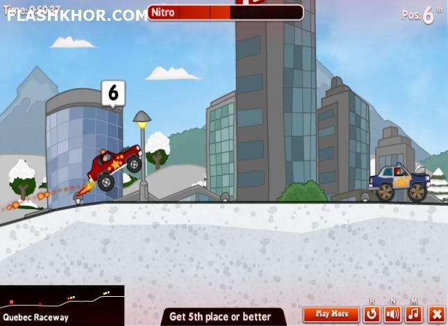 بازی آنلاین مسابقات داغ داغ ماشین سواری فلش