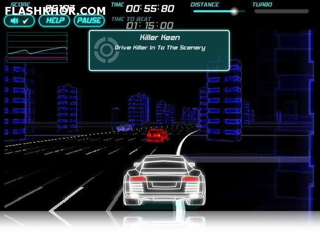 بازی آنلاین مسابقات ماشین های نئونی 2 فلش