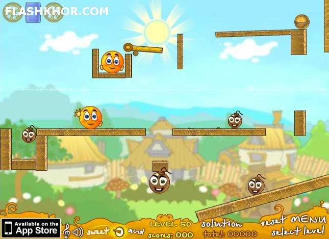 بازی آنلاین محافظت از پرتقال ها بسته بازیبازها - فکری فلش