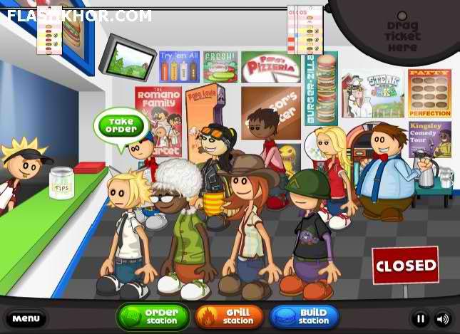 بازی آنلاین رستوران داری همبرگری پاپا فلش