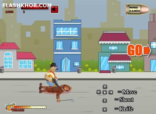 بازی آنلاین انتقام مافیا جنگی تفنگی فلش