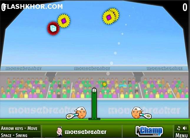 بازی آنلاین تنیس بین کله ها - ورزشی فلش