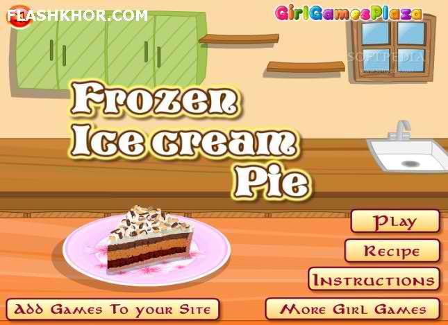 بازی آنلاین آشپزی پای بستنی یخی فلش
