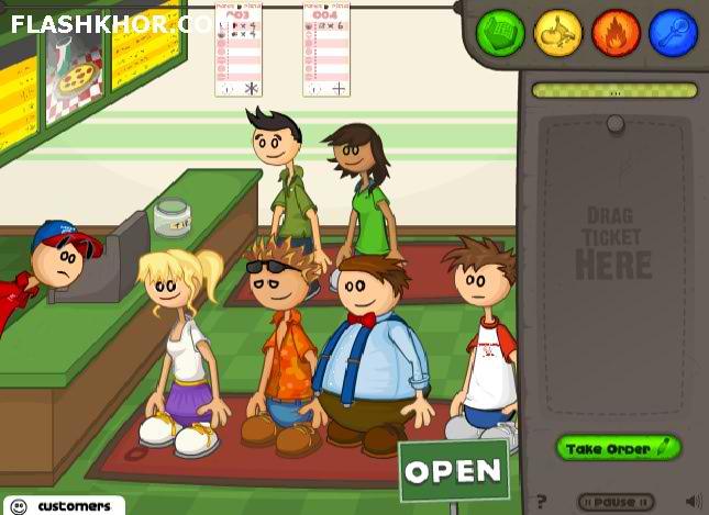 بازی آنلاین مدیریتی پیتزا فروشی پاپا فلش