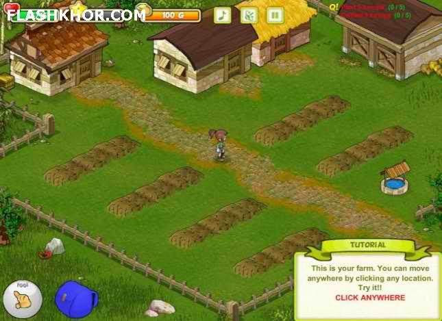 بازی آنلاین مزرعه داری : الی مزرعه دار فلش