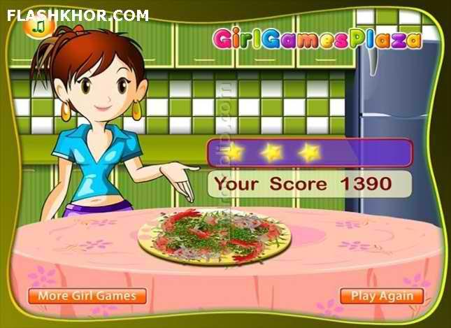 بازی آنلاین آشپزی خوراک میگو فلفلی با سیر - دخترانه فلش