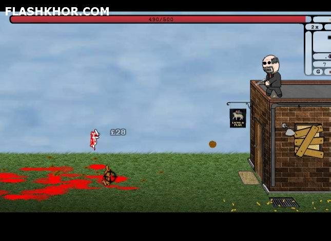 بازی آنلاین حمله خرگوش های مهاجم 2 - تیر اندازی فلش