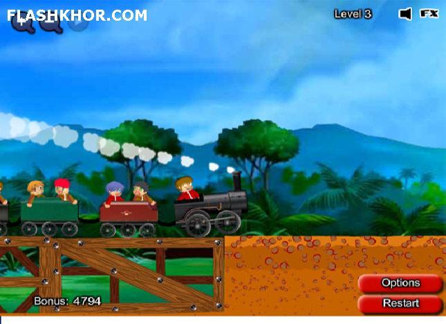 بازی آنلاین پل سازی - فیزیک فلش