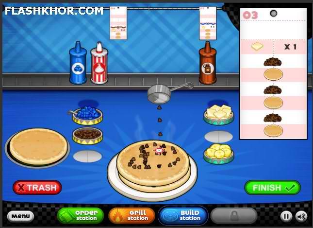 بازی آنلاین مدیریتی شیرینی و کیک فروشی پاپا - دخترانه فلش