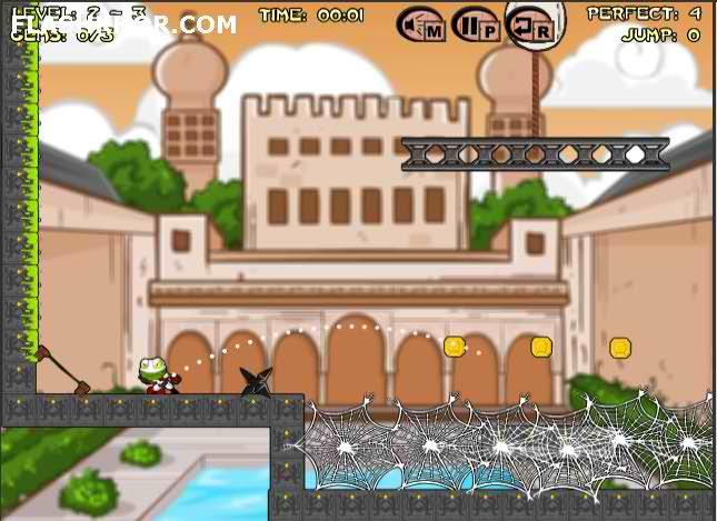 بازی آنلاین قورباغه نینجا - فکری فیزیک فلش