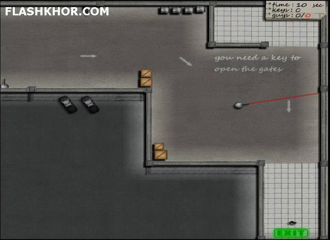 بازی آنلاین فرار از زندان مخوف - اکشن فلش
