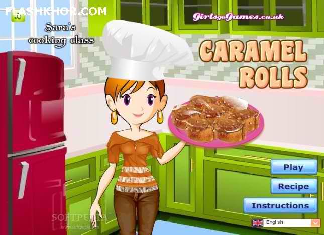 بازی آنلاین آشپزی شیرینی رولت کارامل - دخترانه فلش