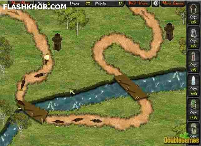 بازی آنلاین ارباب جنگ 2 - استراتژیک دفاع از قلعه فلش