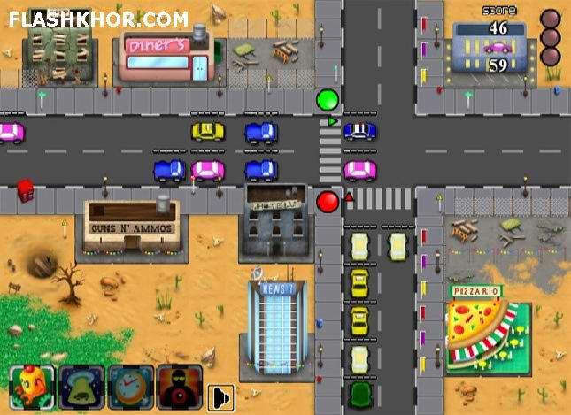 بازی آنلاین مدیریت ترافیک - استراتژیک فلش