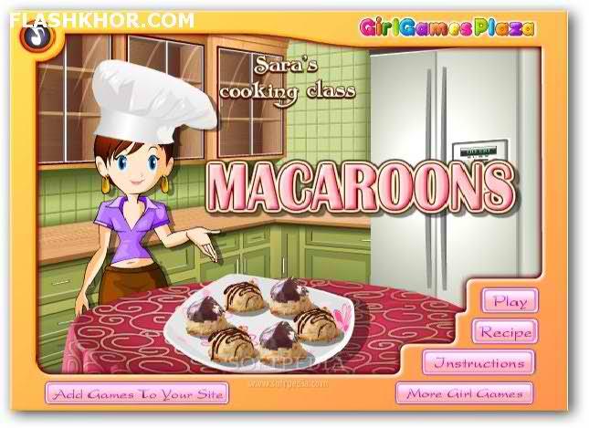 بازی آنلاین آشپزی شیرینی ماکارونز - دخترانه فلش