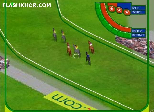 بازی آنلاین اسب سواری کورس قهرمانی - ورزشی فلش