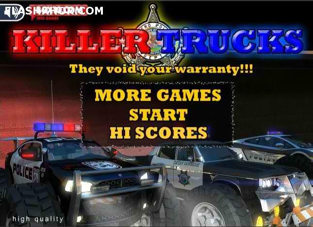 بازی آنلاین قاتل کامیون ها - کامیون سواری ورزشی فلش