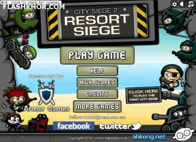 بازی آنلاین محاصره شهر 2 - جنگی تیر اندازی فلش
