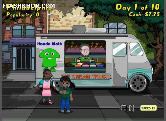 بازی آنلاین مدیریتی کامیون بستنی فروشی - استراتژیک دخترانه فلش