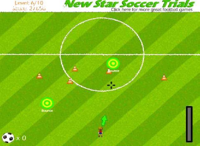 بازی آنلاین فوتبال ستاره جدید: زدن هدف با توپ فلش