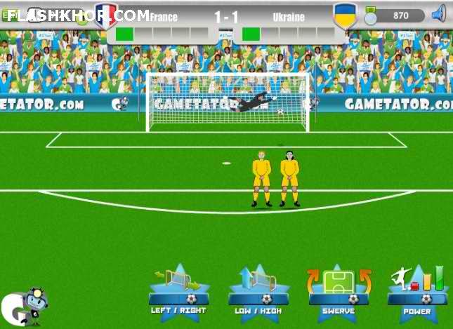 بازی آنلاین فوتبال یورو 2012 ضربه ایستگاهی فلش