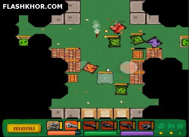 بازی آنلاین تانک فوق العاده - اکشن جنگی فلش