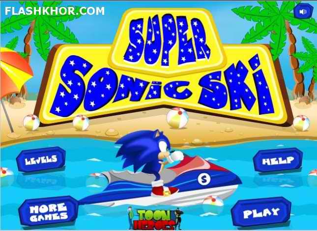 بازی آنلاین سونیک : اسکی سواری فلش