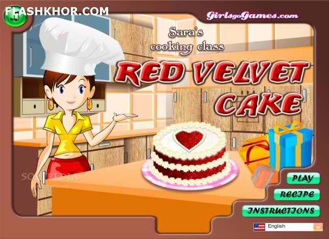 بازی آنلاین آشپزی کیک مخملی قرمز - دخترانه فلش