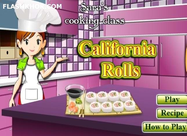 بازی آنلاین آشپزی رولت کالیفرنیایی - دخترانه فلش