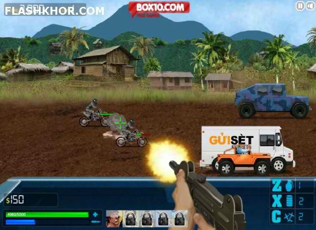 بازی آنلاین بزرگراه مرگبار 2 - جنگی تیر اندازی فلش