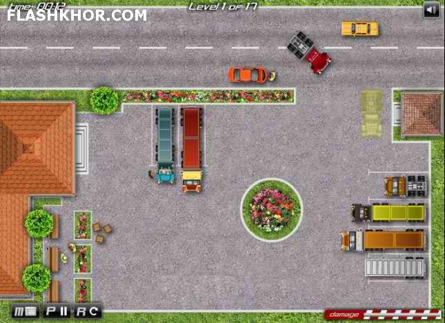 بازی آنلاین پارک ماشین کامیون 18 چرخ - ورزشی فلش